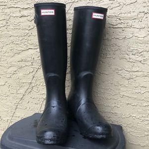 Hunter Original Tall US 10 11 Rain Boots Black